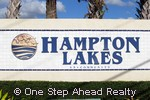 Hampton Lakes sign