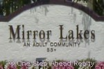 Mirror Lakes sign