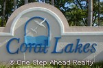 Coral Lakes community sign