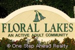 Floral Lakes community sign